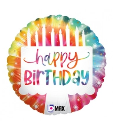 "26120P- Tie-Dye Cake Birthday (18"")"